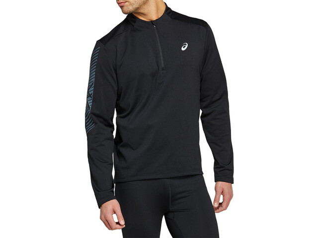 asics Icon LS 1/2 Winter Zip Top Men performance black/carrier grey